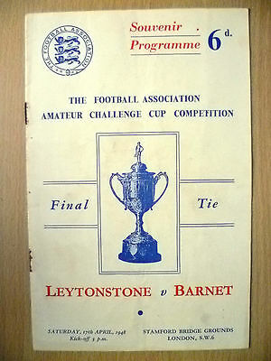 1948 Amateur Cup FINAL- LEYTONSTONE v BARNET at Stamford Bridge
