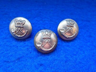 3 X Victorian Volunteer Rifles 16Mm White Metal Tunic Buttons
