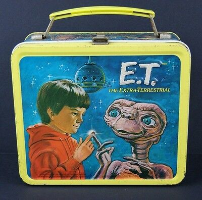 Vintage 1982 ET The Extra-Terrestrial Alien Movie Metal Lunchbox Only