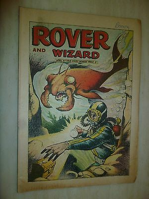 Comic- THE ROVER and WIZARD - 6th April 1968