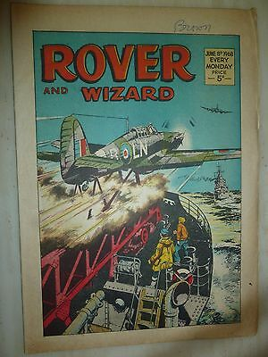 Comic- THE ROVER and WIZARD - 8th June 1968