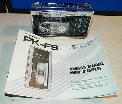 Rare Pioneer PK-F9 Stereo FM/AM Cassette Player, Sony Walkman Sound Quality