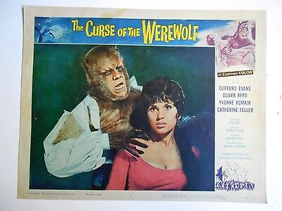 Curse of the Werewolf lobby card #2 best card Hammer horror Oliver Reed monsters
