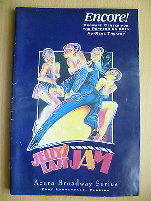 1995 ENCORE Theatre Programme: MAURICE HINES in JELLY'S LAST JAM-GEORGE C. WOLFE