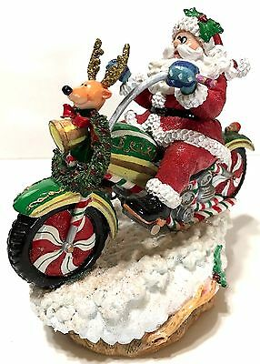 2004 Fitz & Floyd Adventures of Santa Claus on Motorcycle Plays Jingle Bells