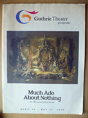 1998 Guthrie Theater Programme: MUCH ADO ABOUT NOTHING by William Shakespeare