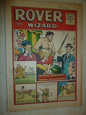 Comic- THE ROVER and WIZARD - 1st June 1968