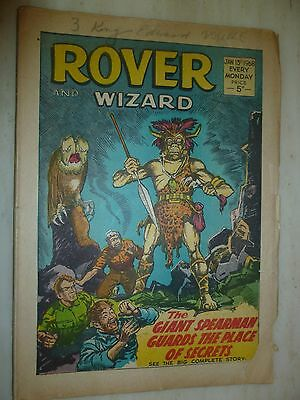 Comic- THE ROVER and WIZARD - 15th January 1968