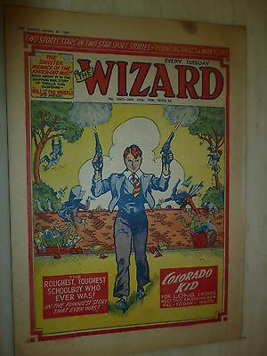 Comic- THE WIZARD - No.1667, 25th January 1958
