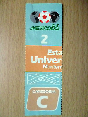 Ticket 1986 World Cup in Mexico at Estadio Universitario Monterrey