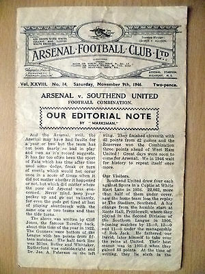 1946 Football Combination Match- ARENAL v SOUTHEND UNITED