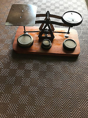 Vintage Brass Weighing Scales with Weights