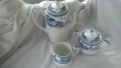 Vintage Nippon Royal Fantasy Japanese Coffee/Tea Pot, Sugar Bowl & Milk Jug Set