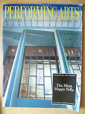 1991 Ahmanson Theater LOS ANGELES: THE MOST HAPPY FELLA by Frank Loesser