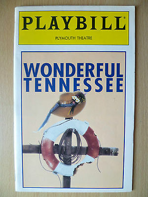 1993 PlayBill Plymouth Theatre- WONDERFUL TENNESSEE by Patrick Mason
