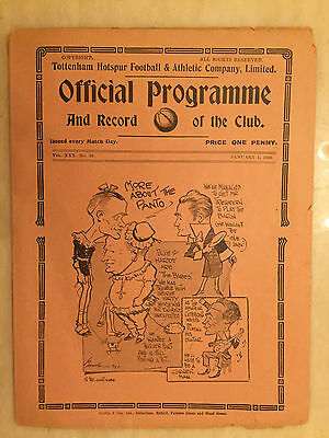 1937/38 LONDON COMBINATION: TOTTENHAM HOTSPUR v  BOURNEBOUTH & BOSCOMBE (RARE)