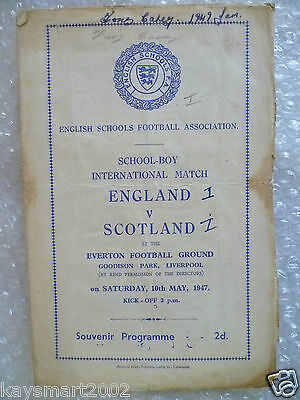 1947 England v Scotland; School Boy International Match, 10 May