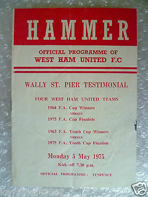 1975 Wally St. Pier Testimonial Match WEST HAM UNITED v WEST HAM UNITED, 5 May