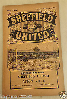 1930/31 Central League: SHEFFIELD UNITED RES. v BURNLEY RESERVES - 29th November