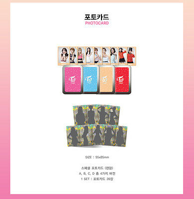 TWICE 1ST TOUR TWICELAND ENCORE OFFICIAL GOODS PHOTOCARD PHOTO CARD ALL Ver. SET