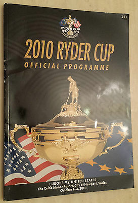 2010 RYDER CUP OFFICIAL PROGRAMME - EUROPE vs. UNITED STATES
