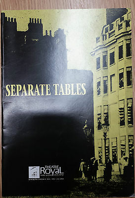 1993 Theatre Royal Newcastle Upon Tyne: SEPERATE TABLES - Programme & Ticket