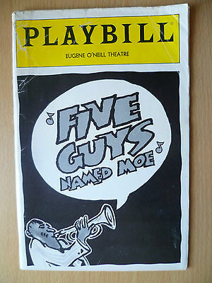 1992 PlayBill Eugene o'Neill Theatre- FIVE GUYS NAME MOE by Charles Augins