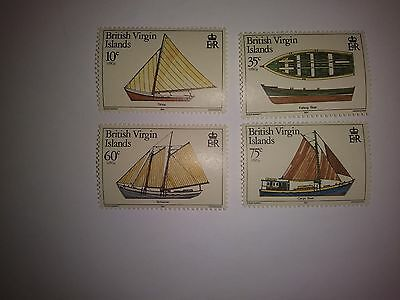 collectible British Virgin Islands Boat issue postage stamp