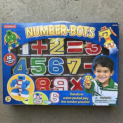 NEW! Lakeshore Learning Number Bots Math Transforming Robots Transformers AC226