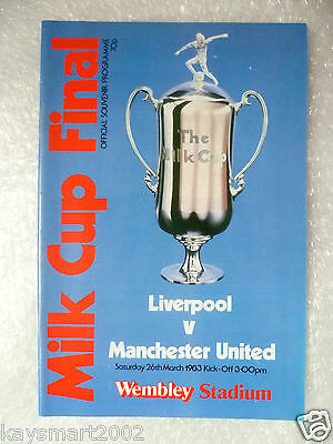 1983 League Cup Final LIVERPOOL v MANCHESTER UNITED, 26 March (Original*)