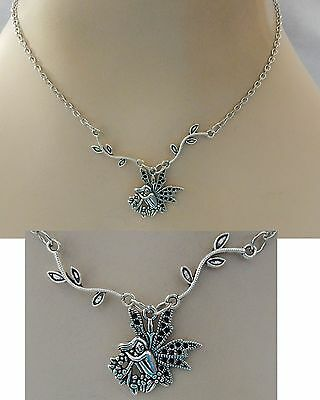Silver Woodland Fairy Pendant Necklace Jewelry Handmade NEW Adjustable Fashion