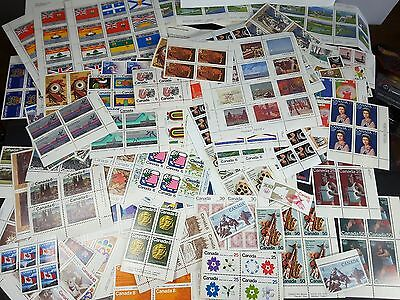 $166.16 Face Value Of Unused Canada Stamps - Collection Of Mostly Corner Blocks