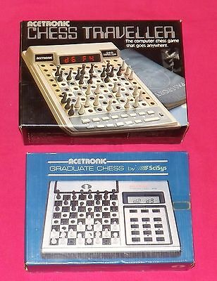 1980 Acetronic Electronic Chess Traveller & 1981 Acetronic Graduate Chess