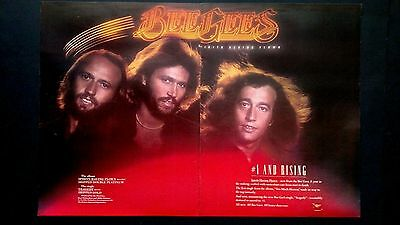 """Bee Gees """"spirits Having Flown"""" Double Page  Rare Original Print Promo Poster Ad"""
