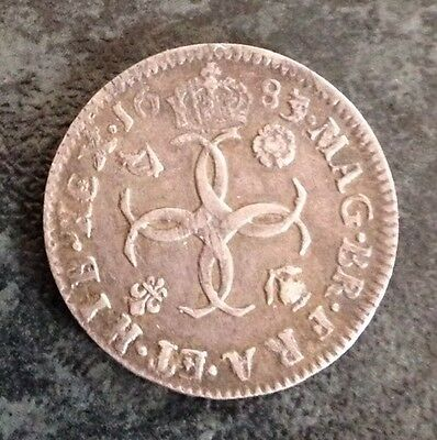 Charles II 1683 Maundy Four pence / Groat