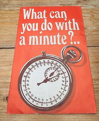 Vintage Religious Booklet/Pamplet/Retro/What Can You Do With A Minute?