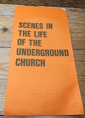 Vintage Religious Booklet/Pamphlet/Scenes In The Life Of The Underground Church