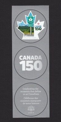 ca. CANADA 150, MS stamp with 2 tabs TRANS-CANADA HIGHWAY, MNH Canada 2017
