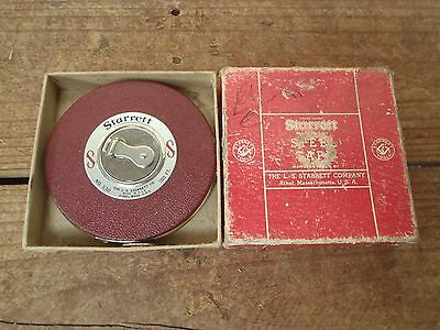Vintage Starrett 100ft Leather and Steel Tape Measure No. 530 Made in USA, Boxed