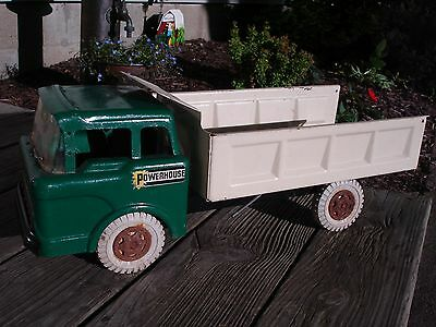 Vintage Marx Powerhouse Dump Truck Pressed Steel Toy Collectable