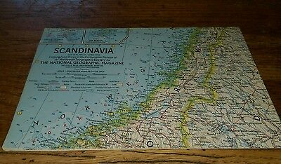 1963 Scandinavia National Geographic Map Cartographic Division Atlas Plate 34