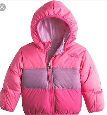 NWT The North Face Infant Girls Reversible Moondoggy Hood Jacket Sz 3-6 m $120
