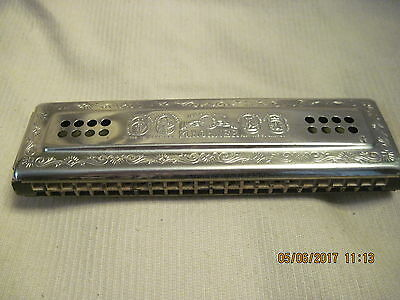 Plays Awsome  Vintage M. Hohner Harmonica. Made West Germany