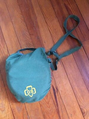 Vintage 1950's Girl Scout Mess Kit With Plaid Carrying Pouch
