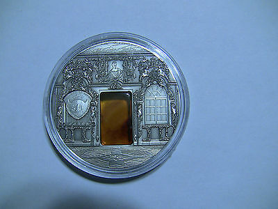VERY RARE Palau 2009 10$ Mineral Art Amber Chamber 2oz Silver Coin