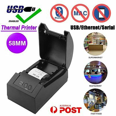 High Speed POS Thermal Receipt Printer 58mm Auto Cutter USB/Ethernet/Serial AUSD