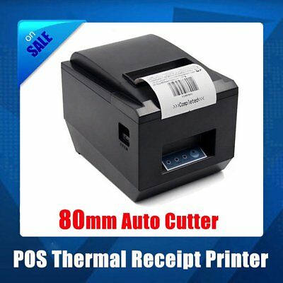 POS Thermal Receipt Printer 80mm Auto Cutter Serial Port/USB/Ethernet 250mm/s AS