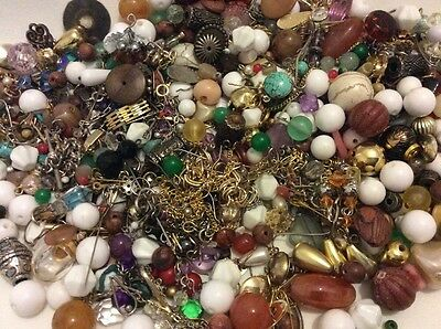 Bulk Lot Of Vintage Beads Craft Jewellery Making Bits And Pieces Mixed