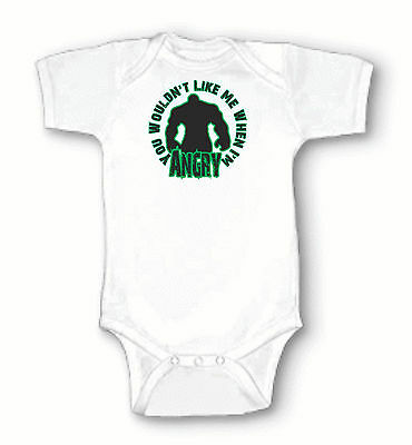 You Wouldn't Like Me When I'm Angry! The Incredible Hulk, Infant Baby Onesie