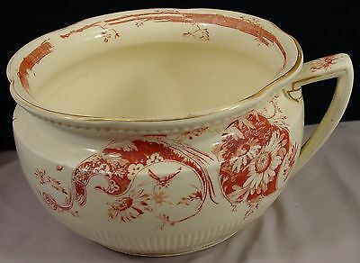 CHAMBER POT in Fantasia by George Jones  & Sons Antique 1874-1924